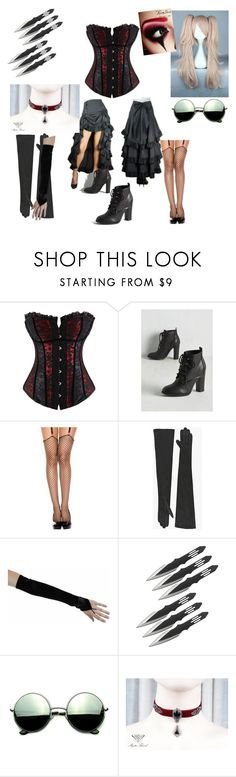 """Book of Circus:Zeila aka Red the blind knive thrower"" by tvogel-cupcakes-11-17 ❤ liked on Polyvore featuring ToBeInStyle, Revlon, Balmain and Revo"