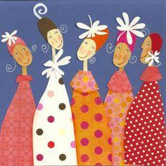 Patch Quilt, Applique Quilts, Collage Art, Collages, Paper Dolls, Art Dolls, Paper Art, Paper Crafts, Pintura Country