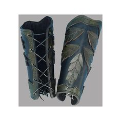 Elven Leaf Arm Bracers ❤ liked on Polyvore featuring armor, bracers and fanfiction