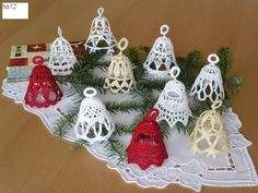 xmas bell ornament free pattern chart multi