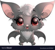 Beautiful little bat vector image on VectorStock Cute Animal Drawings Kawaii, Cute Drawings, Anime Animals, Cute Animals, Dark Crystal Movie, Bat Vector, October Art, Cute Bat, Witch Art