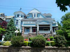 Beautiful blue Victorian home