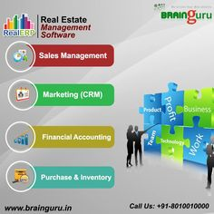 #RealERP - RealERP is a #CRM Solutions for #business management that automate the entire business process as Sales, #Marketing, Finance, #Purchase & Inventory #Management. See more @ http://brainguru.in/product/realerp.html