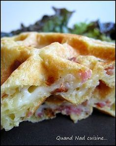 Savory waffles with mozzarella, sundried tomatoes and bacon - When Nad cooks . - Savory waffles with mozzarella, sundried tomatoes and bacon – When Nad cooks … - Tapas, Salty Foods, Snacks, Food Inspiration, Love Food, Breakfast Recipes, Food Porn, Food And Drink, Cooking Recipes