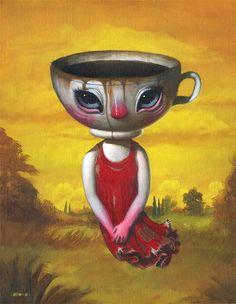 Mark BROWN.   Artiste peintre pop-surréaliste américain.