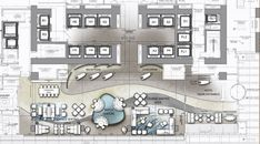 5 Star Hotel Plan of Reception and Lobby