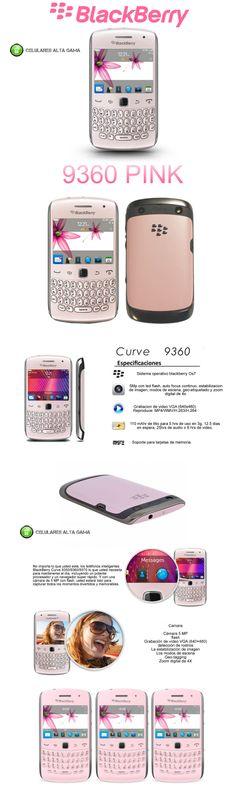 comprar blackberry curve 9360 rosa libre / venta curve 9360 en argentina