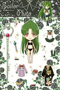Every kind of nerdery imaginable. Sailor Pluto, Sailor Moom, Sailor Moon Crafts, Sailor Moon Fan Art, Sailor Moon Crystal, Paper Toys, Paper Crafts, Sailor Saturno, Japanese Cartoon