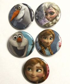 Disney's Frozen  Set of 5 Pinback Buttons by GeeklyYours on Etsy, $5.00