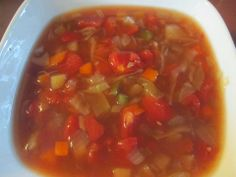 Recipe Rebels: VEGETABLE SOUP WITH DICED TOMATOES