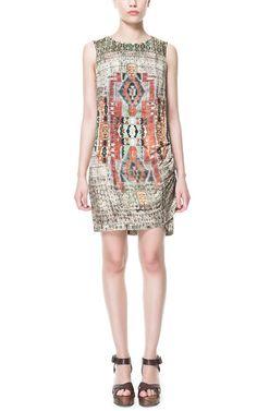 1f445ef2bb0 ETHNIC PRINT DRAPED DRESS - Dresses - TRF - ZARA Turkey