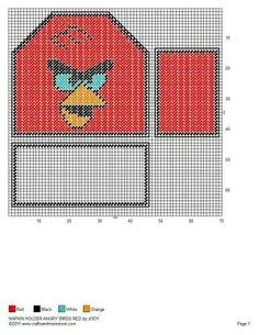 NAPKIN HOLDER ANGRY BIRDS RED by JODY