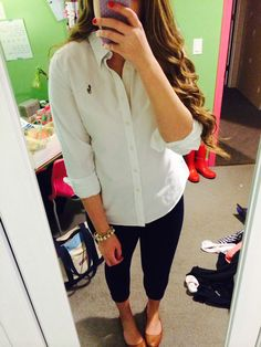 This preppy outfit is perfect for school and is sleek and sophisticated.