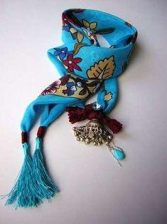 Yoğun mavi Diy Jewelry, Jewelry Accessories, Jewelry Making Tutorials, Jewerly, Scarves, Weaving, Prints, Handmade, Design