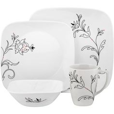 u cant go wrong with corelle  sc 1 st  Pinterest & Denby Monsoon Chrysanthemum 16-piece Dinnerware Set | Overstock.com ...