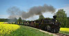 Na úzkokolejce z Jindřichova Hradce do Nové Bystřice jezdí vlaky už od roku 1897. Train, Canada, Strollers