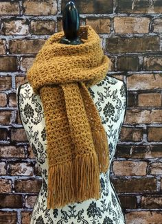 Super Bulky Long Scarf by seechriscreate on Etsy