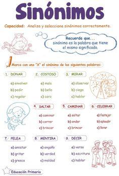 #Spanishsynonyms http://razonamiento-verbal1.blogspot.com/2013/03/sinonimos-para-ninos.html