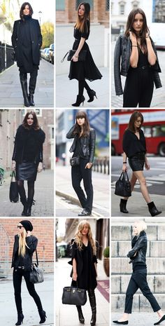 all black outfits...cause black is the best color