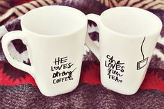 His + Her Sharpie Mug DIY