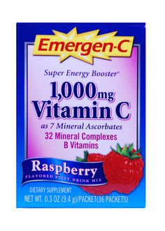 Emergen-C! my go-to whenever I'm feeling under the weather, almost all the flavors are good