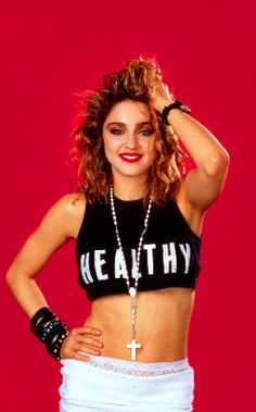 """Madonna"""" I love this funky look-so sexy and ready to take the world by storm! We chicks all wanted to be Madonna, even if we didn't like her. Go figure. Brad Pitt Jennifer Aniston, Madonna Looks, Lady Madonna, Madonna Fashion, 80s Fashion, Janet Jackson, Kate Winslet, Spice Girls, Mariah Carey"""