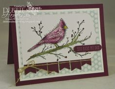 Create with Connie & Mary #316. Stampin' Up! Beauty of the Season using Blendabilities. Debbie Henderson, Debbie's Designs.