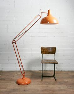 giant muno lamp - feelin the Muno love Orange Lamps, Adjustable Floor Lamp, Anglepoise, Art Of Living, Living Room, Art Deco Furniture, Mid Century Modern Furniture, Lamp Bases, Boy Room
