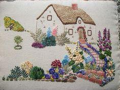 Hayfield Cottage: Cottage Garden Embroidery