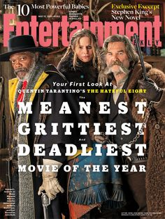 We have your first look at Quentin Tarantino's #HatefulEight, the meanest, grittiest and deadliest movie of the year.