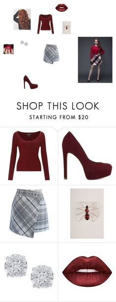 """""""riverdale - cheryl Blossom"""" by fangirl-24 on Polyvore featuring Miss Selfridge, ALDO, Chicwish, The Unbranded Brand, Effy Jewelry, Lime Crime, fangirl, riverdale and cherylblossom"""