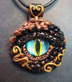 Dragon Eye Pendant Bronze color
