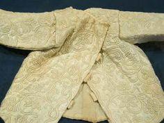 "Satin baby jacket ""Zaans"" embroidery. second half 18th century  Zaans Museum, Zaandam"