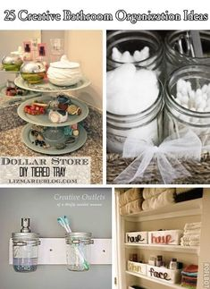25 Creative Bathroom Organization Ideas