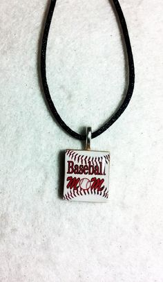 Baseball Mom Scrabble Tile Pendant Necklace by sherrollsdesigns, $8.00
