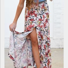 Free People Smooth Sailing Maxi Skirt. Size 0. NWT Free People Smooth Sailing Maxi Skirt. Size 0. NWT.   Petal Combo.                                                                CHEAPER ON OTHER SITES (71740) Free People Skirts Maxi