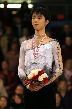 Yuzuru Hanyu of Japan wins the silver medal in the men's free program 2013 Skate Canada, Mens Figure Skating / Ice Skating dress inspiration for Sk8 Gr8 Designs.