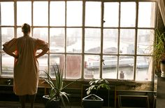 Johanna Burke — Set Designer, Apartment and Studio, Brooklyn, New York Looks like the House of my grandparents Brooklyn, Window View, Window Art, New York, Big Windows, Loft, Through The Window, Studio Apartment, Interior And Exterior