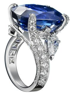 Van Cleef & Arpels Violina Diamond and Sapphire encrusted ring Van Cleef Arpels, Van Cleef And Arpels Jewelry, High Jewelry, Jewelry Box, Jewelry Rings, Jewelry Accessories, Jewelry Design, Geek Jewelry, Trendy Accessories