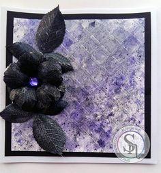 Designed By Claire  Sheena Rose Stamp Spectrum Noir Sparkle Pens: Black, Boudoir, Fig, Silver.  #spectrumnoir #crafterscompanion #sparkle