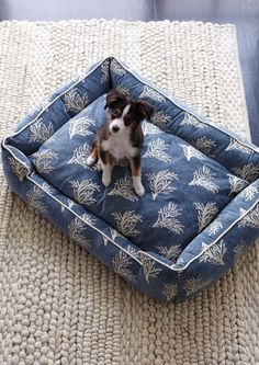 Available in fashionable patterns, our Lounge Pet Bed makes a stylish addition to your home's decor.