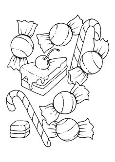 Candy Coloring Page Holidays Pinterest Candy Coloring Pages