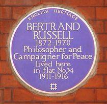 Bertrand Russell - Bury Place, WC1.