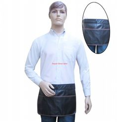 Leather Apron Quarter Length with Pockets - For Gardening, Tools and Trader