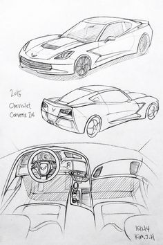 135 best cool car stuff images in 2019 cool cars car stuff profile New Mustang Prototype car drawing 151214 2015 chevrolet corvette z06 prisma on paper kim j h car drawings