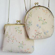 2016 Handmade Girl 120cm Chains Lady Vintage Floral Comsetic Metal Frame Manual/Hand Floral Flower Kisslock Cha Beige Cotton Messenger Bags
