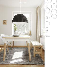 Es lindísima la combinación de madera, blanco y negro