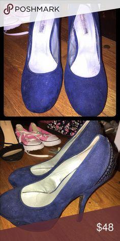 Royal blue heels Beautiful royal blue heels Bakers Shoes Platforms