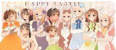 Hetalia - Belgium, Taiwan, Vietnam, Monaco, Seychelles, Wy, Belarus, Ukraine, Hungary, and Lichtenstein : Happy Easter !