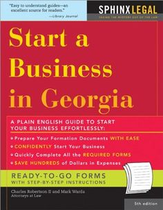 Start a Business in Georgia, 5E (How to Start a Business in Georgia)